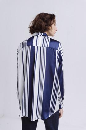 תמונה של חולצה סאלם כחול-לבן